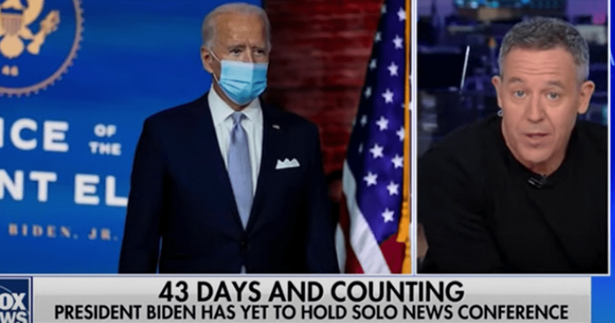 WATCH: Gutfield questions why the WH feed was cut as Biden was about to take questions