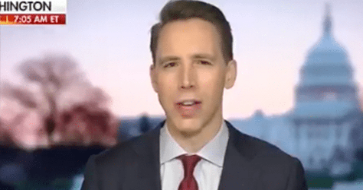 """WATCH: Hawley blasts spending bill as """"less for covid, less for workers – more for abortion providers! More for 'environmental justice'!"""""""