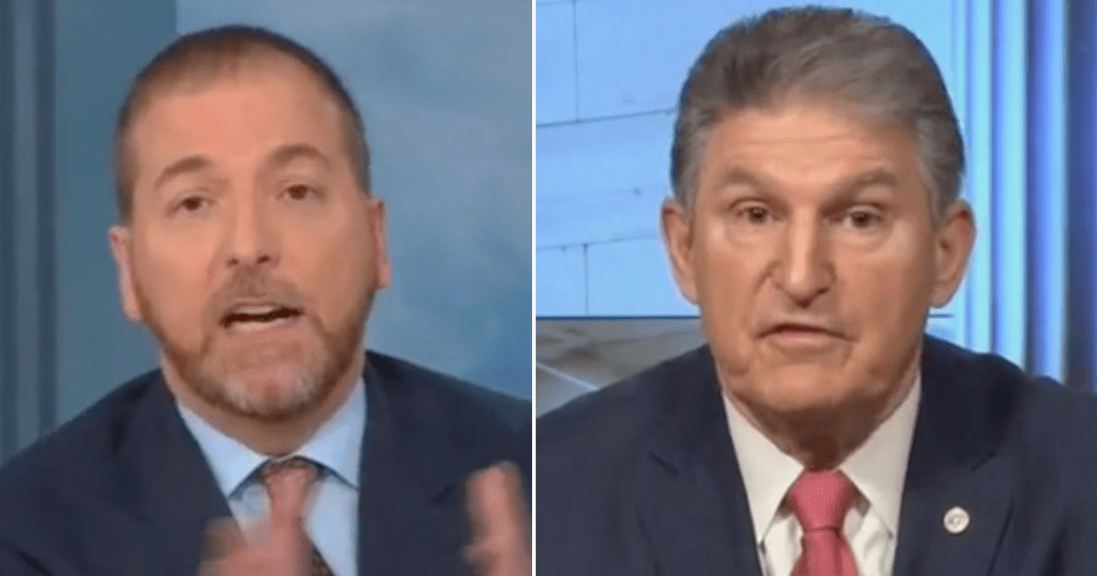 """WATCH: Pressed by Chuck Todd, Manchin says """"I'm not going to change my mind on the filibuster"""""""