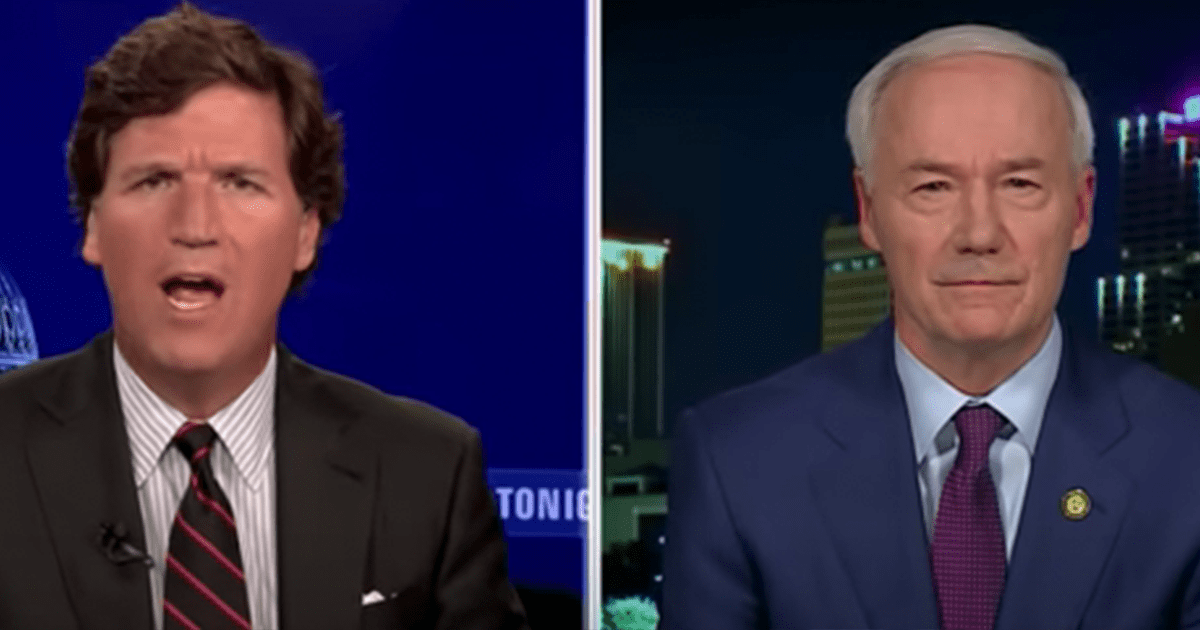 Tucker blasts Gov. Hutchinson for vetoing bill banning youth gender reassignment surgeries