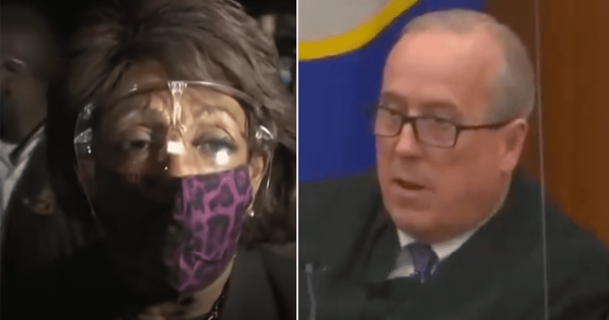 """BREAKING: Chauvin trial judge blasts Maxine Waters, calls her comments """"abhorrent"""" and """"disrespectful to the rule of law"""""""