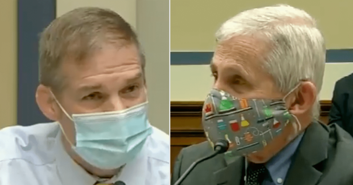 "WATCH: Fauci gets in heated exchange with Rep. Jordan, says ""You're making this a personal thing…that is exactly what you're doing."""