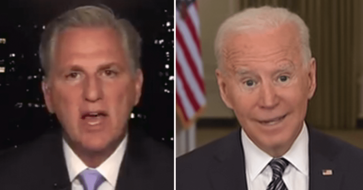 """McCarthy """"Raising taxes would be the biggest mistake President Biden could make right now, and he won't find Republican support for such a terrible idea."""""""