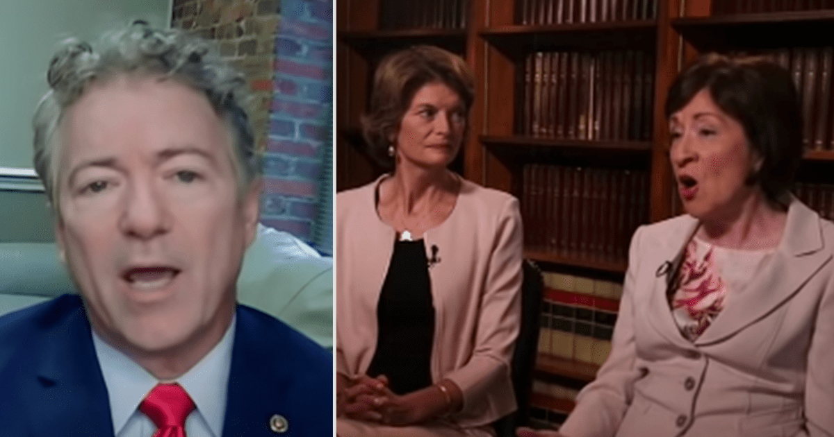 WATCH: Rand Paul calls for Republican Voters to Oust Murkowski and Collins