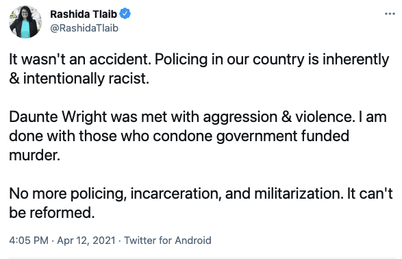 """WATCH: Psaki says Biden doesn't agree with Tlaib's call to end """"policing, incarceration, and militarization"""""""