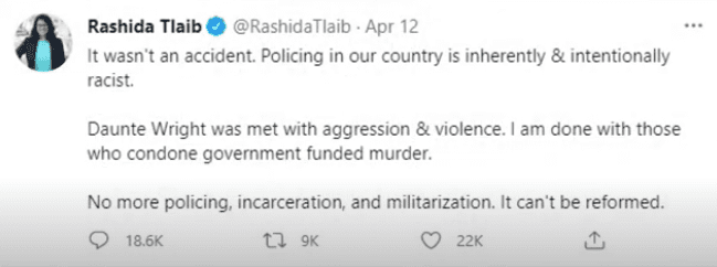 """LISTEN: Tlaib claims policing is built on """"structural racism"""" says """"look at the history of policing in our country"""""""