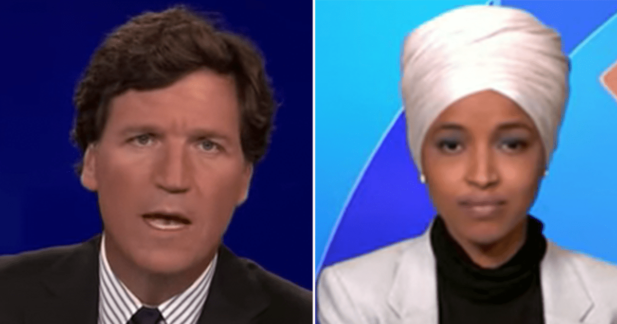 """Tucker blasts Omar for calling for """"gun control"""" after Capitol killing when assailant only had a knife"""