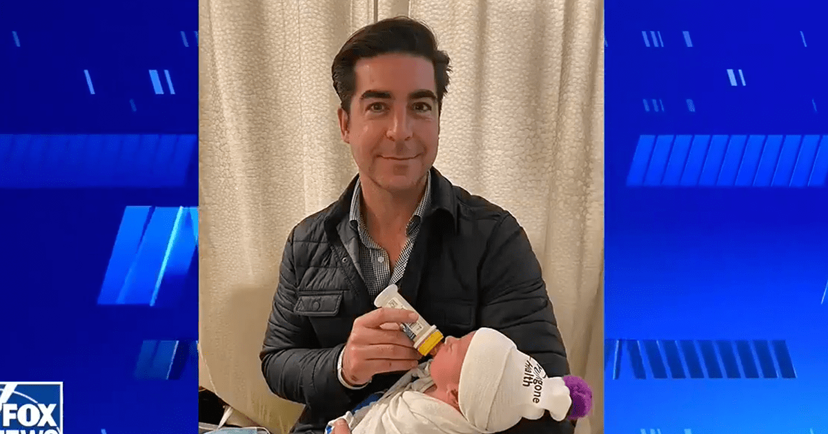 "WATCH: Jesse Watters shares photos of his newborn son, says ""Now I am pro-paternity"""