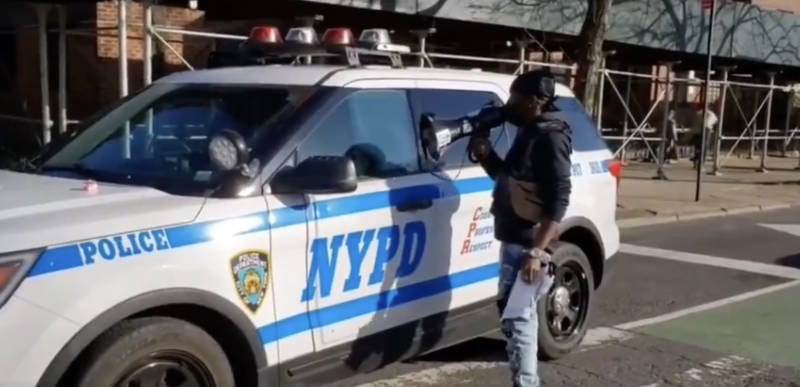WATCH: NYPD officers harassed by nasty BLM thugs