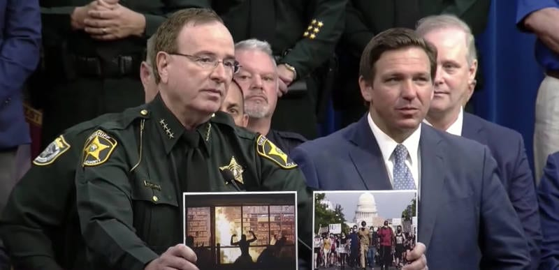 """""""Peaceful protests vs rioting – we can tell the difference!"""" –  Florida Sheriff drops the MIC explaining new anti-Riot Law with Gov DeSantis"""