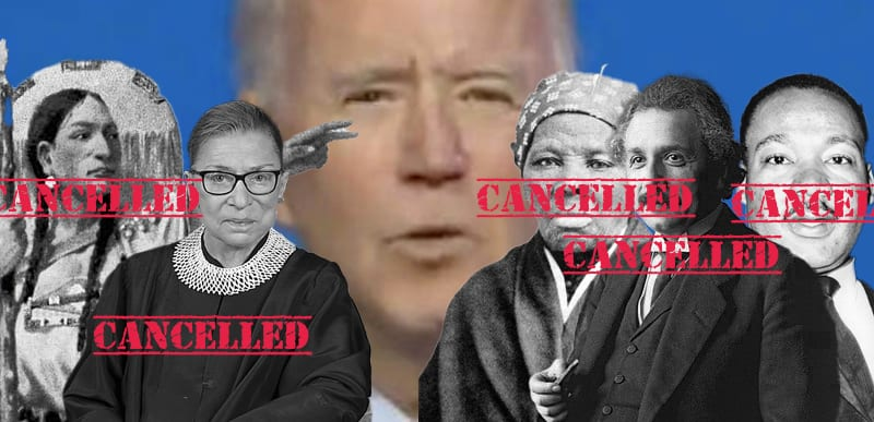 Joe Biden CANCELS Trump initiated plan to honor LIBERAL Justice Ruth Bader Ginsburg and Martin Luther King Jr.