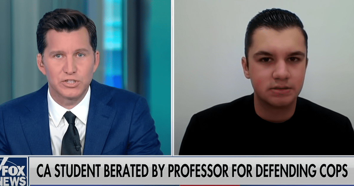"WATCH: Student speaks out after being scolded by professor for calling cops ""heroes"""