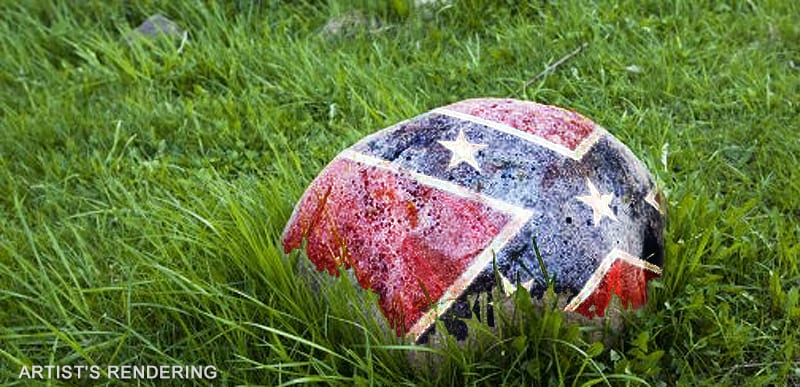 State of New York says they can take CHILD away from MOTHER because of a Confederate flag painted ROCK