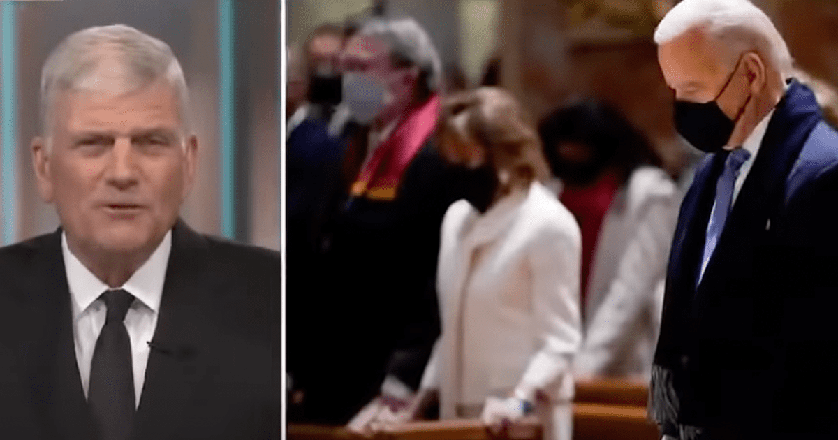 "WATCH: Franklin Graham sounds off after Biden omits ""God"" from National Day of Prayer"