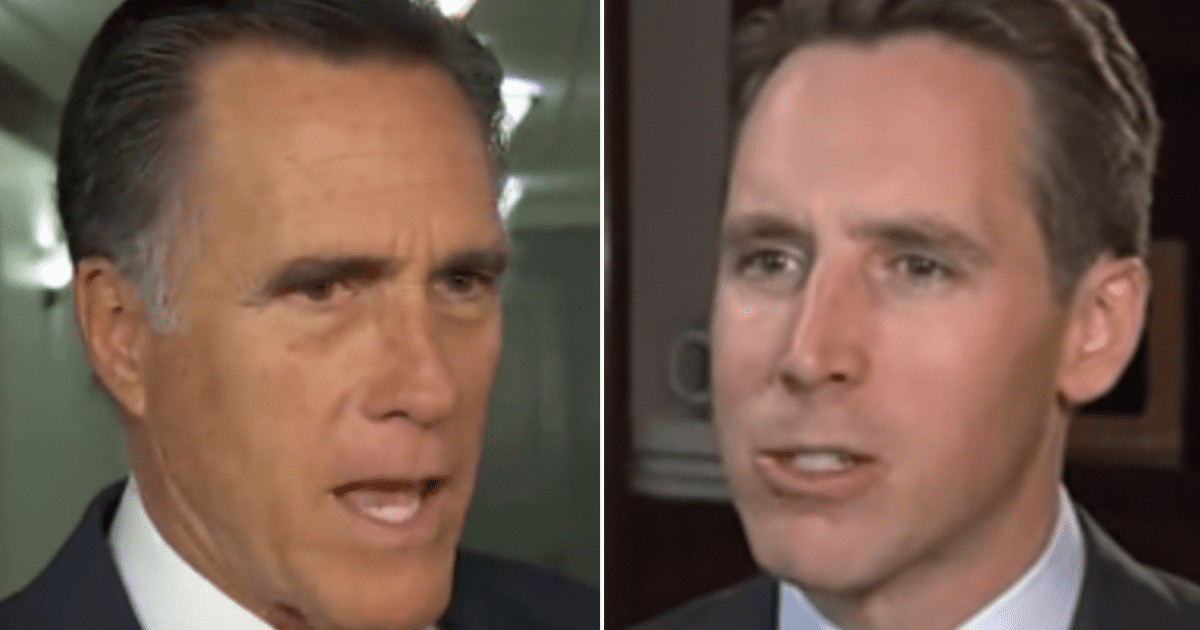 """Romney reportedly accosted Hawley and blamed him for the Capitol Riot, saying """"You have caused this!"""""""