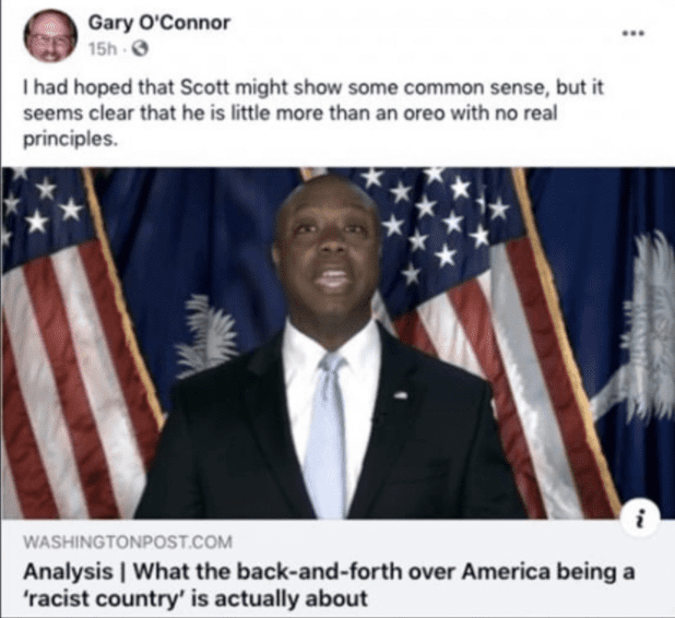 """Texas Democrat who called Tim Scott an """"Oreo"""" Resigns, admits """"I have embarrassed myself and my party"""""""