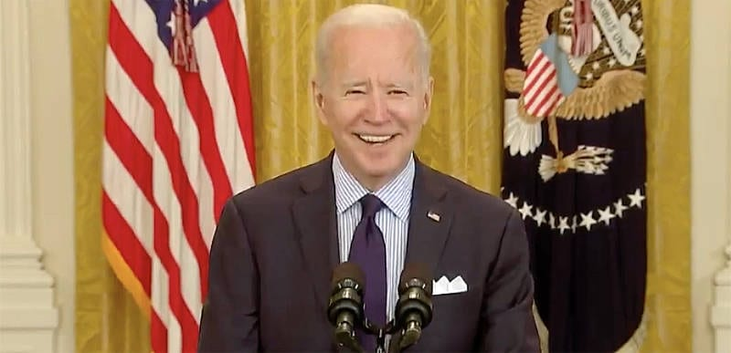 WATCH: Biden just asked WHY he wears a mask when he and everyone at WH is vaccinated, and his answer was TERRIBLE