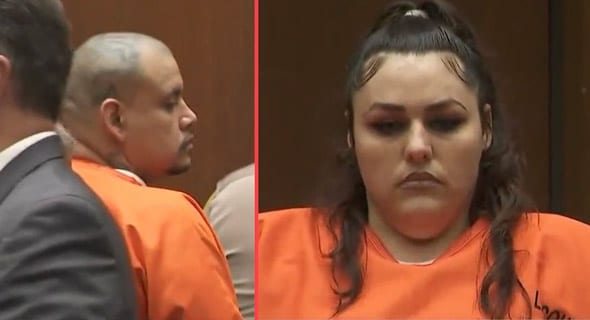 heather maxine barron and her ms 13 gang member boyfriend  kareem ernesto leiva are accused of murdering the boy
