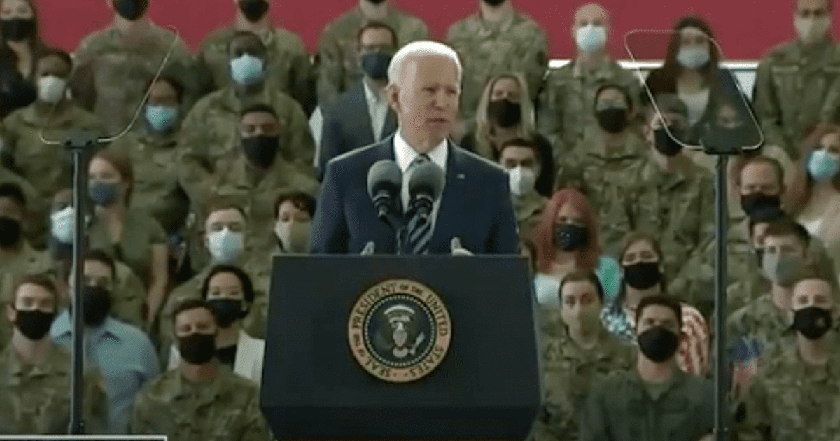 """WATCH: Biden tells Air Force personnel climate change is the """"greatest threat,"""" warns """"this is not a joke"""""""