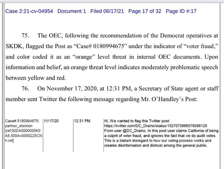 THERE IT IS: Democrats have special Twitter hotline access to silence YOUR speech, PURGE at will. LAWSUIT!
