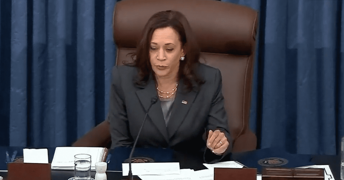 WATCH: The moment Harris announced Dems landmark voting rights bill failed to pass