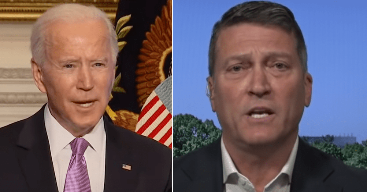 """""""He's completely LOST it!"""" Rep. Ronny Jackson predicts Biden will be forced to resign"""