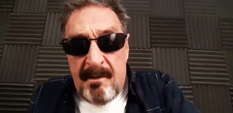 'If I suicide myself, I didn't.' Ummmm. Press says McAfee died of apparent SUICIDE. He already said he DIDN'T. In advance!