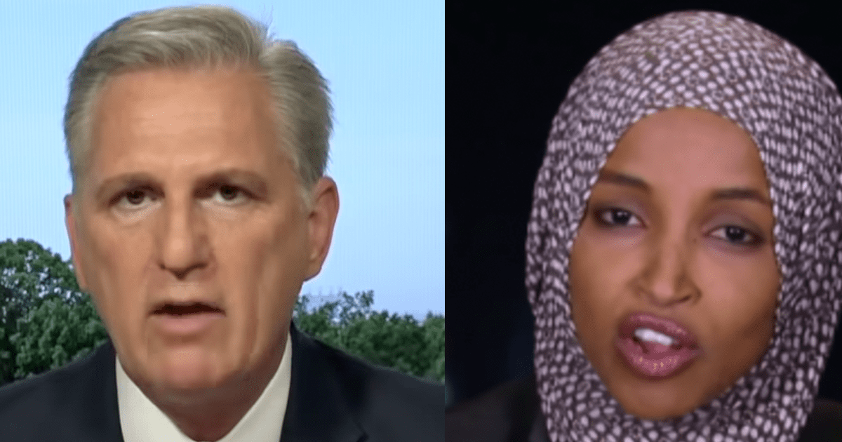 """WATCH: McCarthy calls Omar """"anti-Semitic and anti-American"""" says """"Republicans have never been more united"""""""
