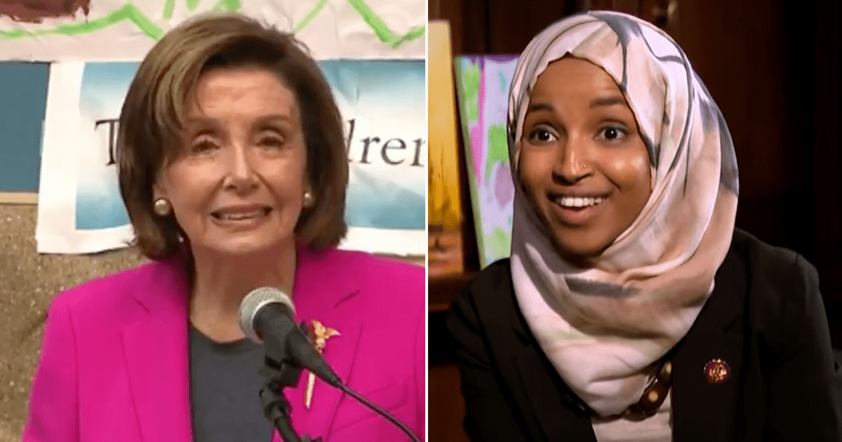 """WATCH: Asked """"Should any further action be taken against Ilhan Omar"""" Pelosi responds """"no"""""""