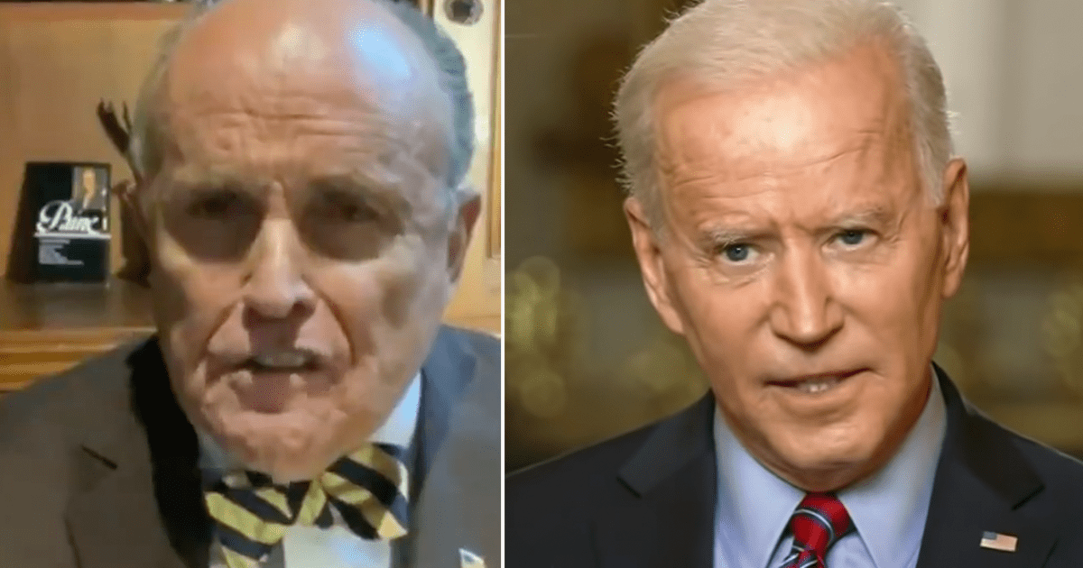 """WATCH: Rudy goes off on Biden """"you're a damn phony and you're a crook"""""""