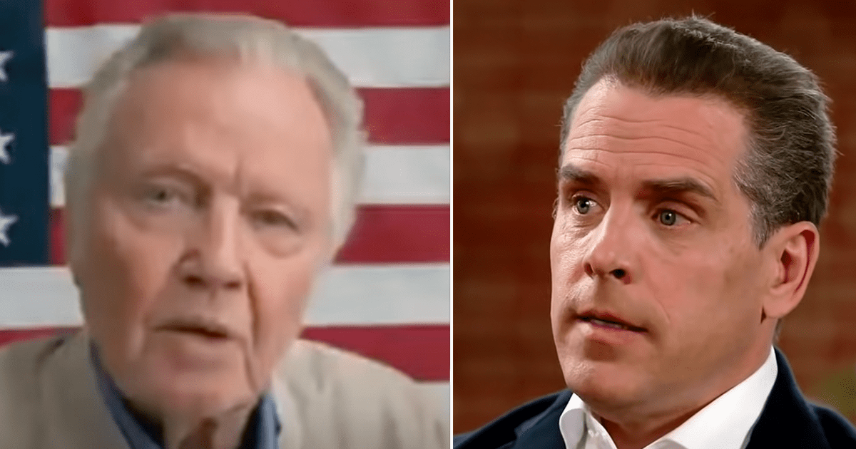 """WATCH: """"This is a disgrace"""" Jon Voight blasts media over their lack of coverage of Hunter Biden's scandals"""