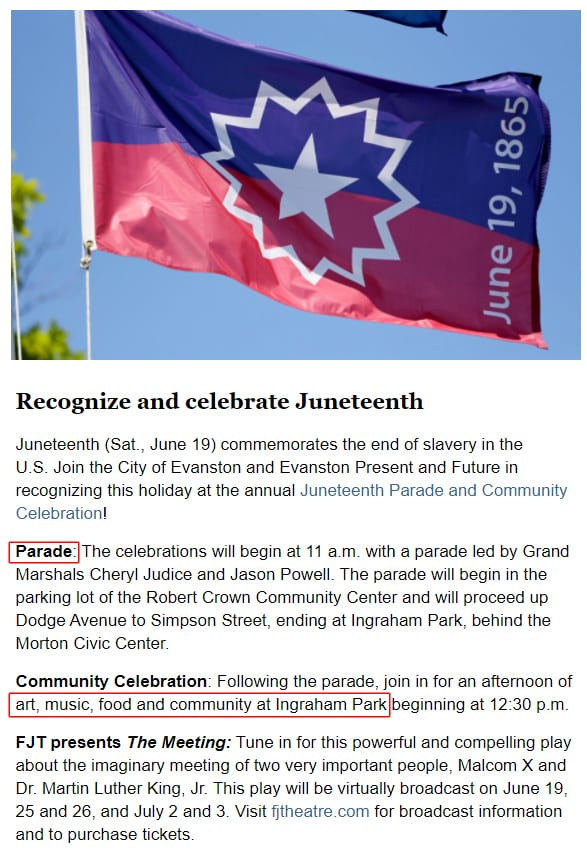 Town cancels Fourth of July for Covid reasons. Town holding PARADE for Juneteenth. SAME TOWN.