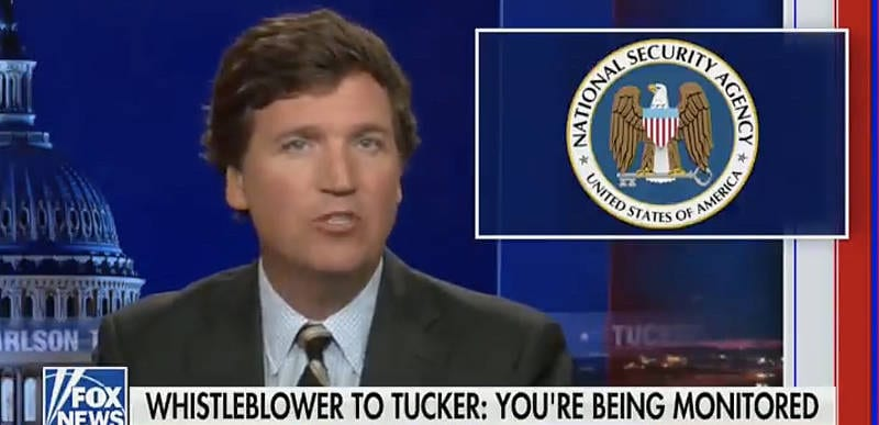 BREAKING: Tucker responds to NSA who is spying on him