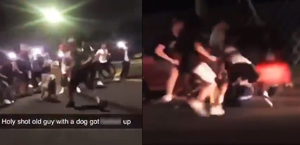 WATCH: Mob of CRAZED hooligan teens SWARM firefighter walking his dog and try to BEAT him to DEATH