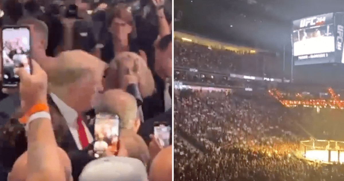 """WATCH: Crowd goes wild as Trump arrives at UFC event, chants """"USA! USA!"""""""