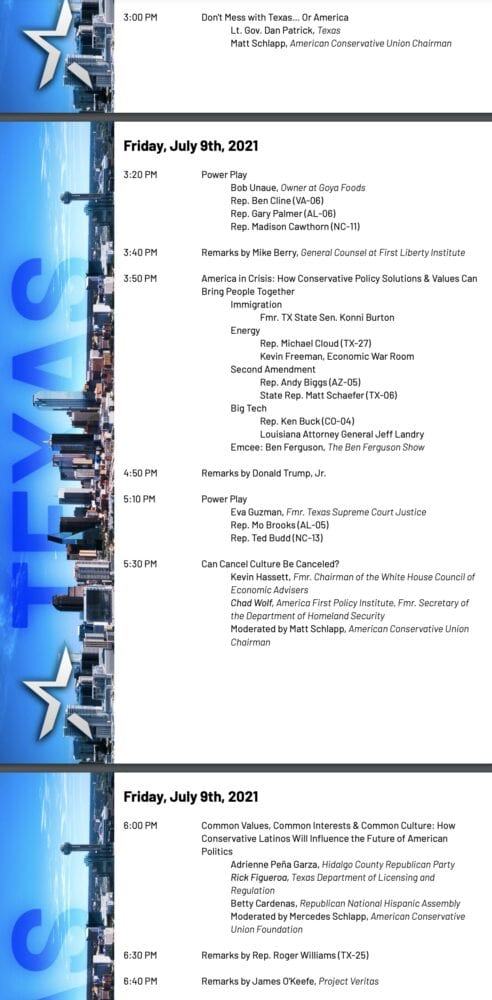 WATCH LIVE: CPAC Texas starts at 4PM ET and features Donald Trump Jr and James O'Keefe