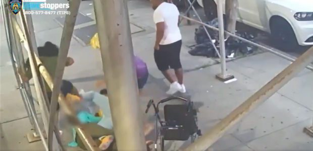 DEBLASIO'S DYSTOPIA: Watch these THUGS brutally BEAT DOWN an old lady with a walker and ROB her in broad DAYLIGHT!