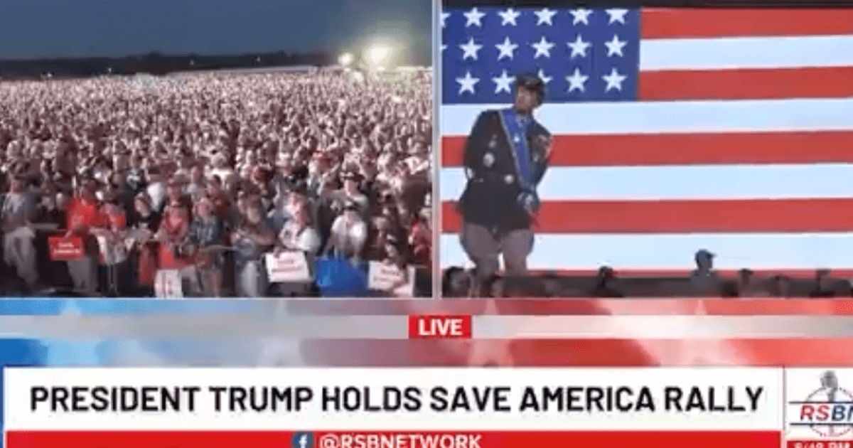 """WATCH: Trump plays rousing segment from """"Patton"""" right before his entrance"""