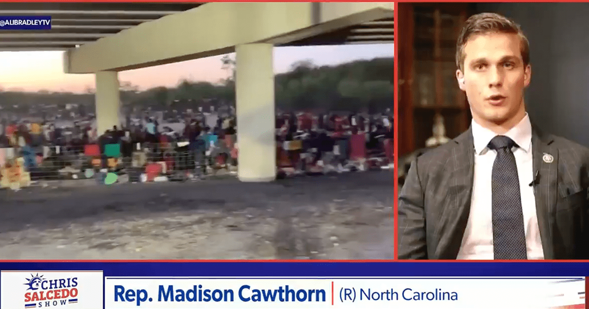 """WATCH: Rep. Cawthorn says """"Right now it's easier to get across our Southern Border than it is to get into a NY restaurant"""""""