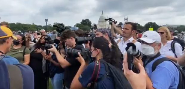 The MEDIA held a RALLY in D.C. today and the Pulitzers are IN the mail.  Also the Riot Cops were there!