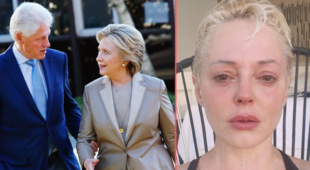 rose mcgowan says attempts on her life have been made after she threatened the clintons
